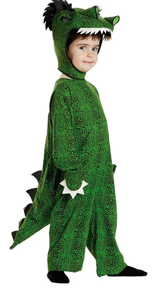 Костюм крокодила из зеленой ткани