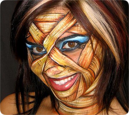 креативная идея макияжа для веселой вечеринки