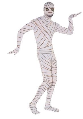 обтягивающее термобелье разрисованное полосками под костюм мумии