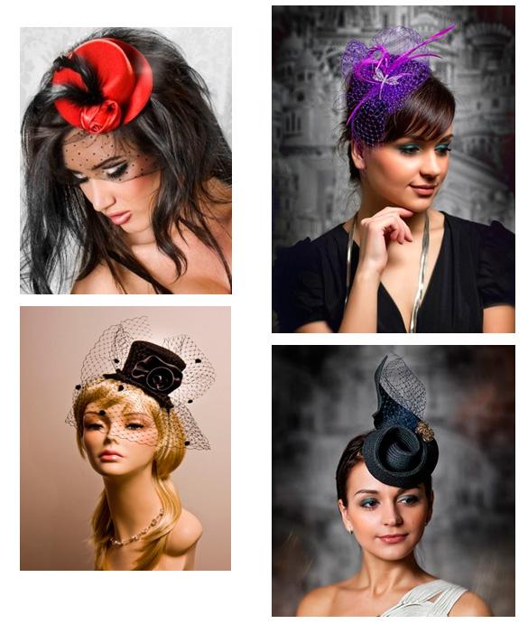 Варианты шляпы с вуалью