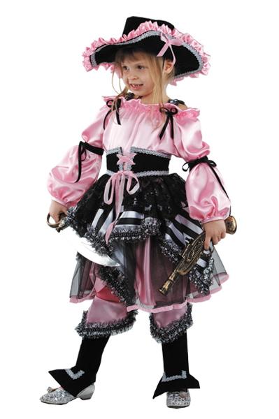 Костюм сказочной пиратки розовый