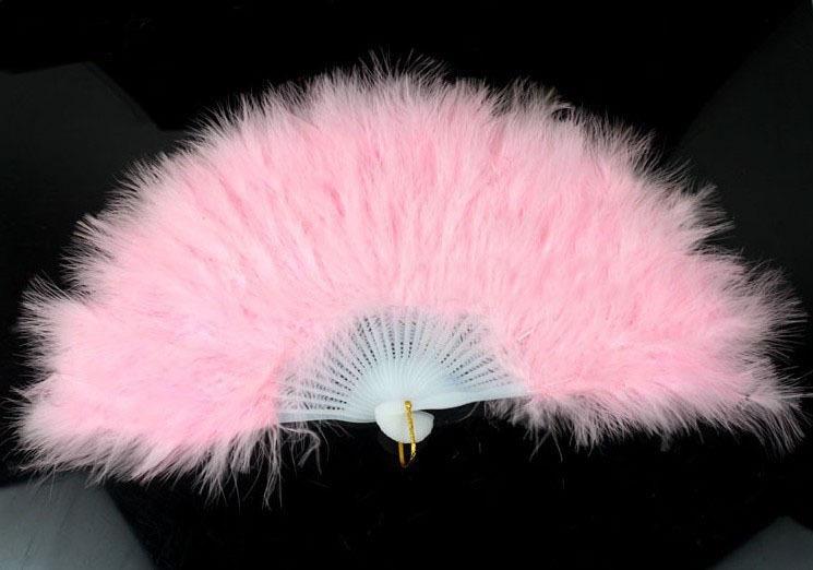 Веер пушистый розовый