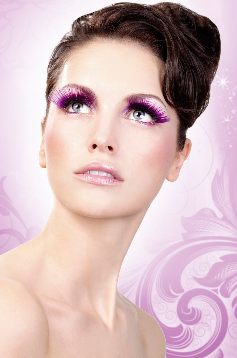 Фиолетовые ресницы