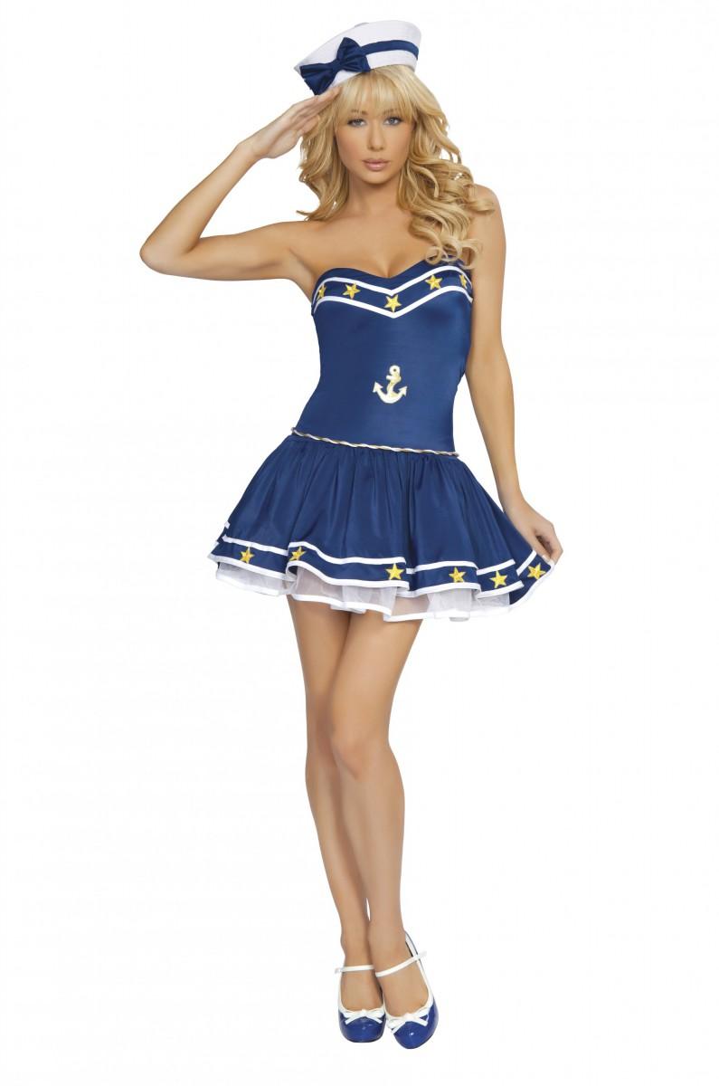 Костюм морячки в голубом