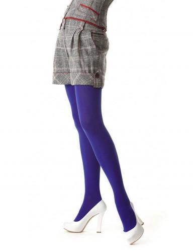 Цветные плотные колготки фиолетовые