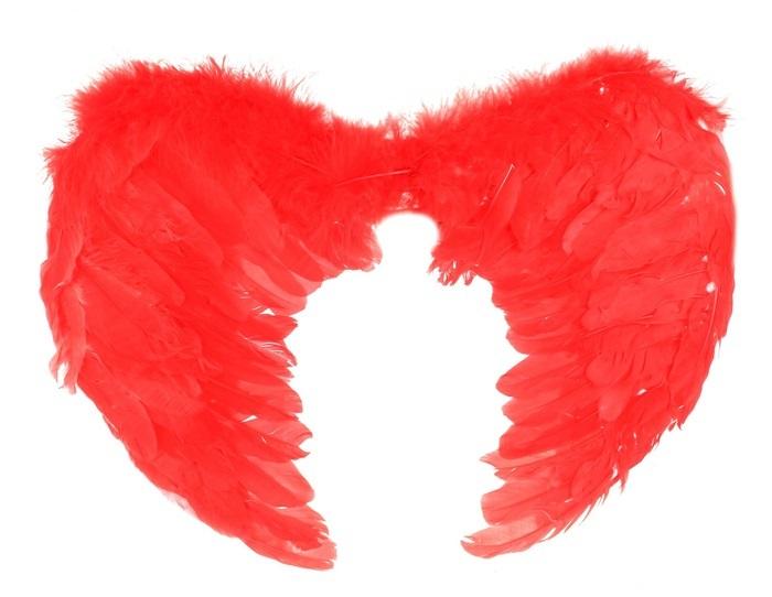Крылья перьевые красные