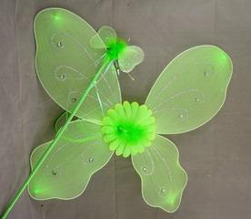 Крылья феи зеленые