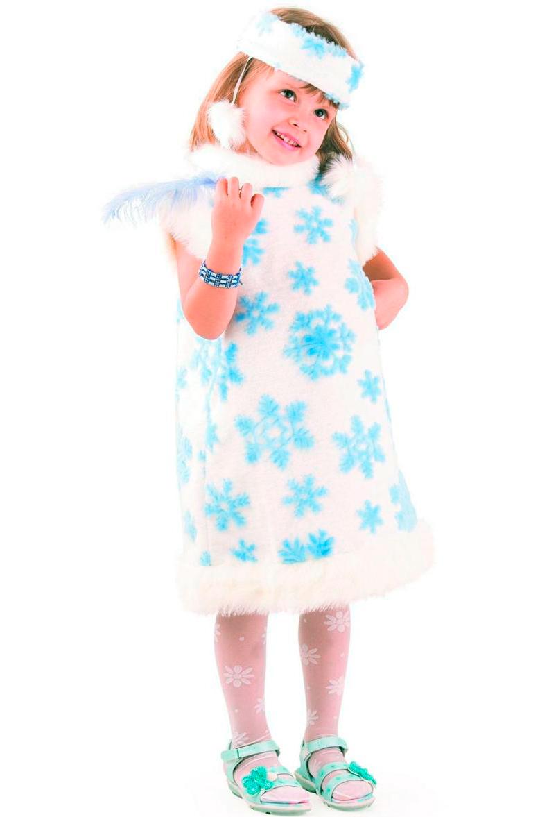 Карнавальный костюм снежинка своими руками