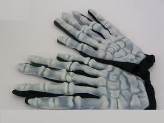 Перчатки скелета светящиеся в темноте