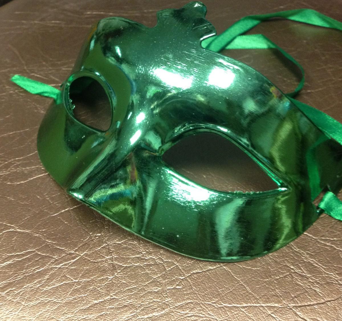Маска Зеркальная зеленая