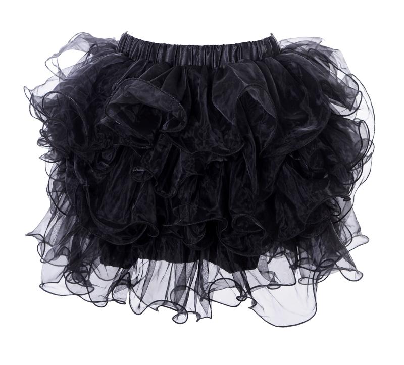 Юбка с воланами черная