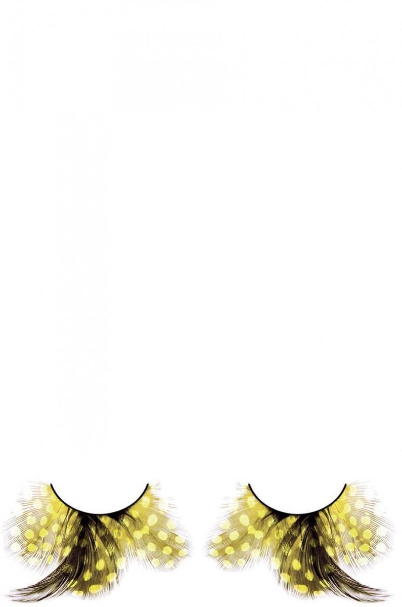Желто-черные ресницы