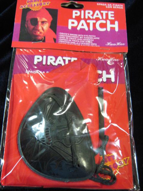 Бандана пирата и повязка на глаз