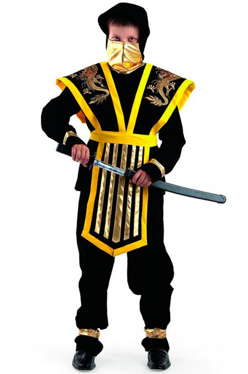 Костюм ниндзя мастера желтый