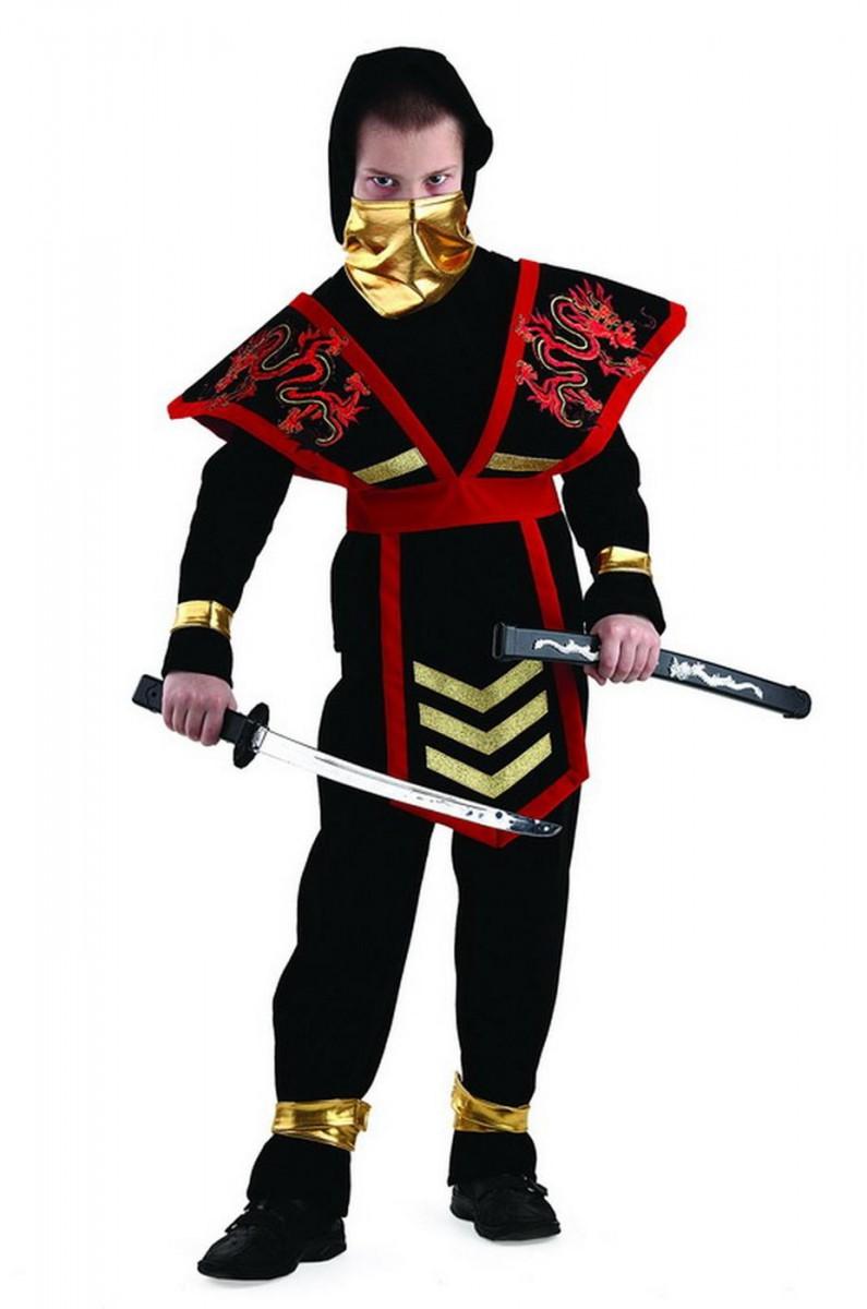 Костюм ниндзя мастера красный