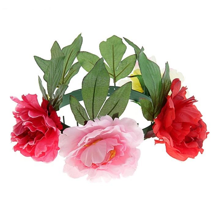 Гавайский ободок с цветами