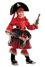 Костюм сказочной пиратки красный