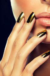 Ногти накладные золотые