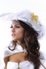 Белая пиратская шляпа с накидкой