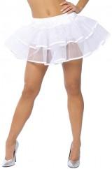 Белая двухслойная юбка