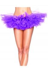 Многослойная фиолетовая юбка