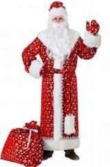 Дед Мороз красный в снежинках
