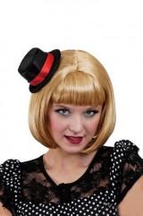 Парик блондинки со шляпкой