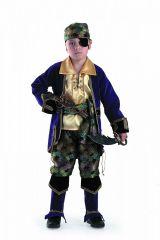 Костюм капитана пиратов люкс лиловый