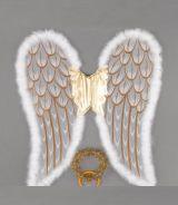 Крылья ангела с золотым нимбом