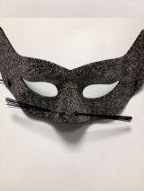 Серебряная маска кошки