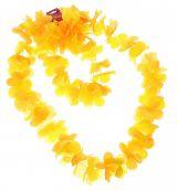 Цветное гавайское ожерелье желтое