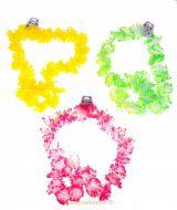 Цветное гавайское ожерелье розовое