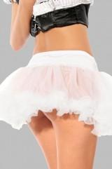 Белая полупрозрачная юбка