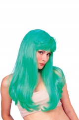 Бирюзовый парик