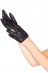 Черные перчатки с блестками
