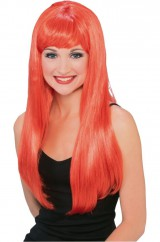 Оранжевый парик