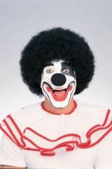 Черный клоунский парик