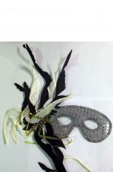 Серебристая маска