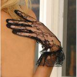 Черные ажурные перчатки