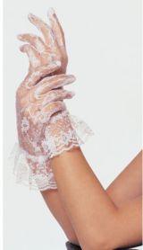 Белые ажурные перчатки