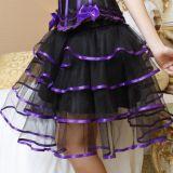 Пышная юбка с фиолетовой лентой