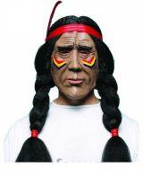 Маска Индеец с косами