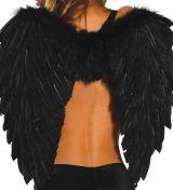 Черные крылья ангелочка