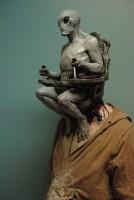 Страшная маска инопланетянина для Хэллоуина