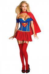 Костюм подруги Супермена  делюкс