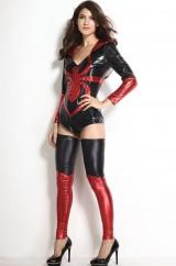 Костюм храброй женщины-паука в красном