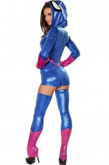 Костюм храброй женщины-паука в голубом