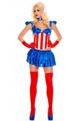 Супергерл Капитан Америка