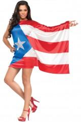 Девушка-флаг Пуэрто-Рико