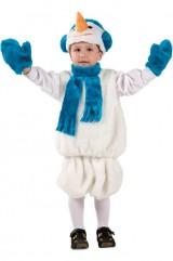 Костюм милого снеговичка детский